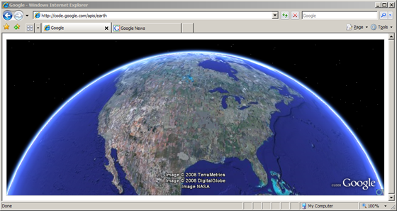 google earth browser