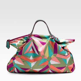 Emilio Pucci large print weekend tote