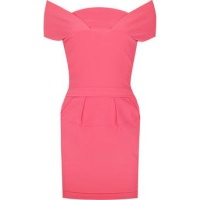 Preen pink stretch sateen mini dresssa
