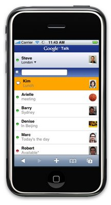 google talk on iphone