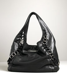 Michael Kors ID Chain Leather Large Hobo