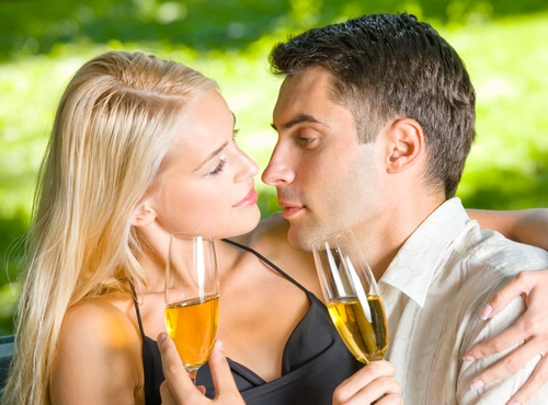 couple celebrate