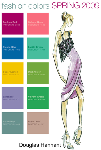 Top Fashion Colors for Spring 2009
