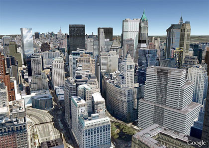 google earth new york city photo-realistic
