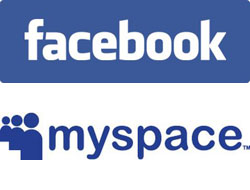 Facebook MySpace Logos