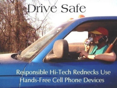 hands free driving redneck