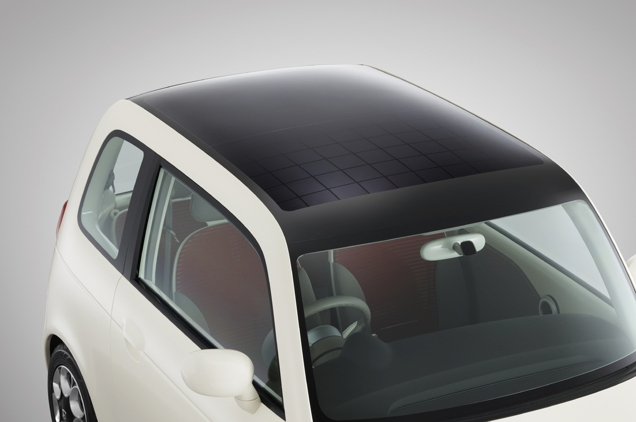 Honda EV-N Concept Car with Solar Panel
