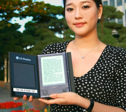 LG Solar Cell Ebook Reader