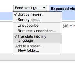google reader translate