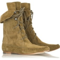 Belle by Sigerson Morrison Suede mocassin ankle boots