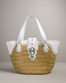 Michael Kors Santorini Straw Shopper Large