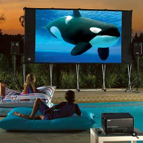 frontpage backyard outdoor theater system