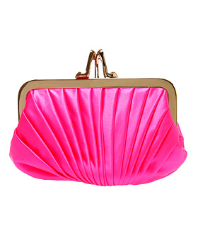 Christian Louboutin Pliage Satin Clutch Bag