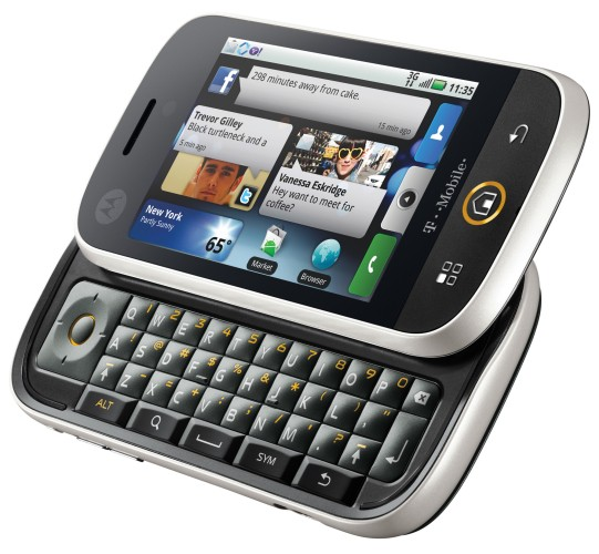Motorola DEXT, also known as Motorola CLIQ in the United States
