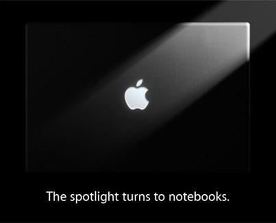 apple notebooks event macbook brick stevenote steve jobs announcement keynote