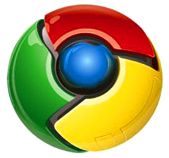 google chrome emblem logo shiny
