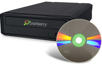 Cranberry DiamonDisc long-lasting storage media disc