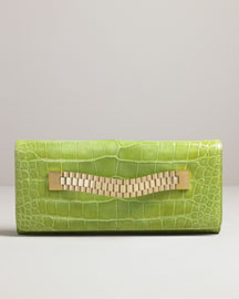 MICHAEL KORS Beverly Alligator Watch Band Clutch