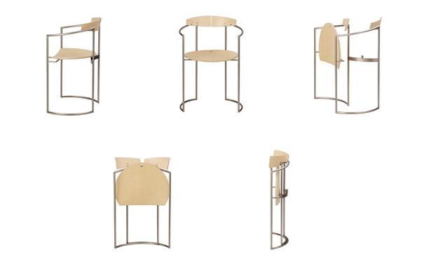Nils Frederking Folding table and chair