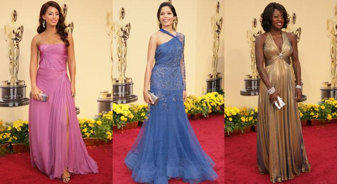 Colorful gowns at Oscar 2009