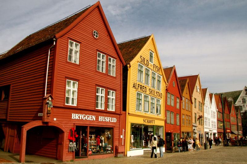 Scenes in Downtown Bergen