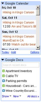 gmail google labs gadgets