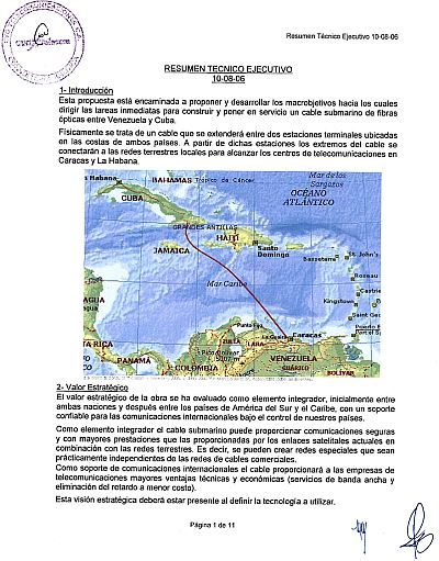 cuba venezuela undersea cable
