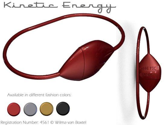 Kinetic energy bracelet