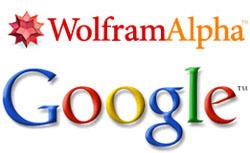 Wolfram Alpha And Google Logo
