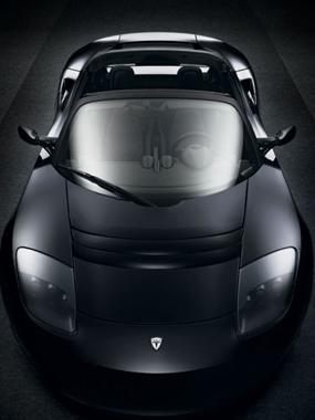 tesla motors roadster car electric vehicle green
