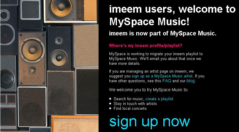 MySpace buys Imeem