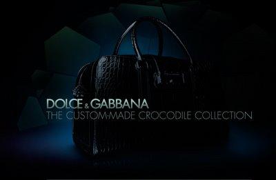 Dolce & Gabbana Custom Made Crocodile Collection