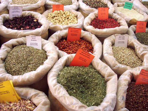 spices in a provence market