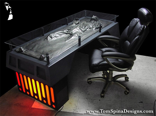 Han Solo Frozen In Carbonite Desk