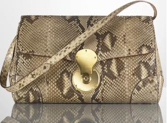 Ralph Lauren London Shimmer Python Clutch