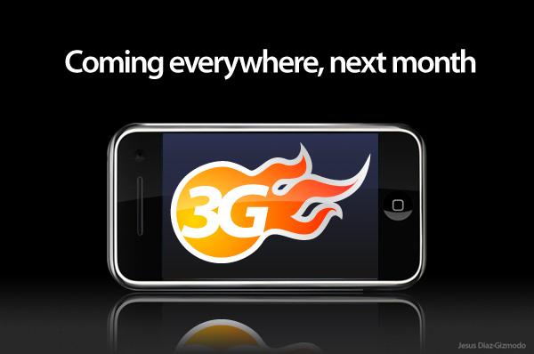 3g iphone next month