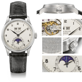 Patek Philippe wristwatch owned by Briggs Cunningham II, which became the world's most expensive watch in known history.