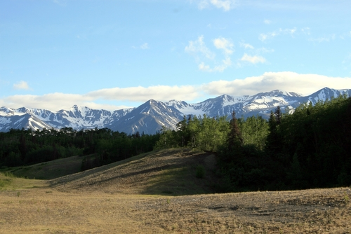 view from haines highway
