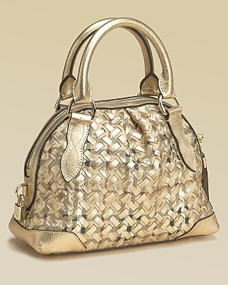 Burberry Women's Woven Small Satchel