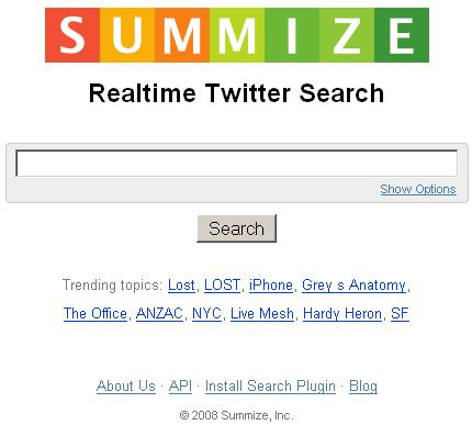 summize twitter search
