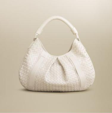 Burberry Large Woven Hobo Handbag