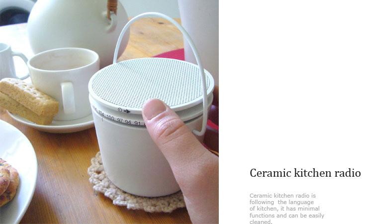 ceramic kitchen radio