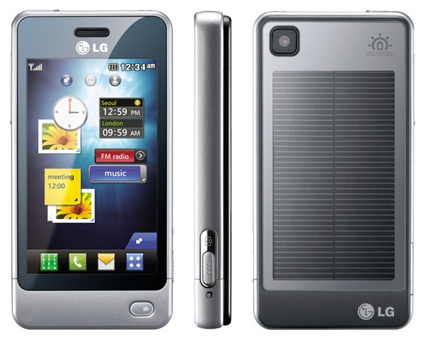 LG GD510 Pop touchscreen phone with solar panel