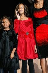 Malia Obama red dress
