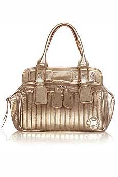Chloe Bay Metallic Leather Bag