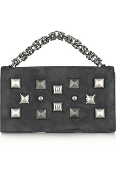 The Roberto Cavalli Studded Leather Clutch