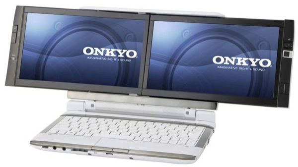 Onkyo DX dual-screen laptop