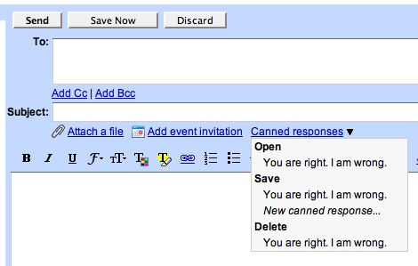 gmail canned response mail goggles email