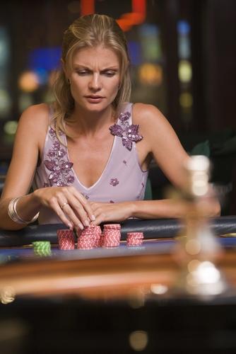 gambler at the casino