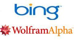 Bing Wolfram Alpha Logos